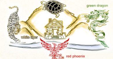 ฮวงจุ้ยพื้นฐาน-เสือขาวมังกรเขียวเต่าดำหงษ์แดง