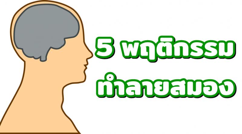 5 พฤติกรรม ทำลายสมอง