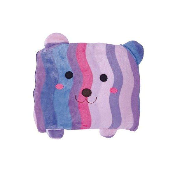 หมอนผ้าห่มลายหมีม่วง